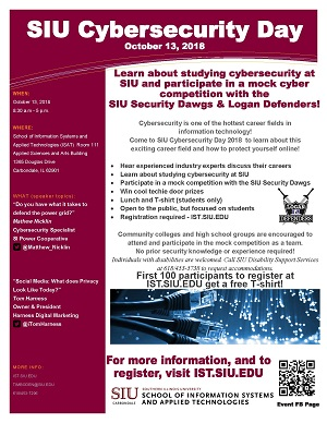 SIU Cybersecurity Day 2018